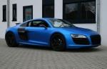 Audi R8 blue ice matt