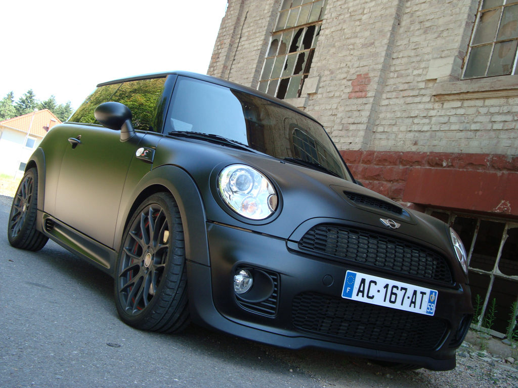 mini cooper s matt black speedtecs gmbh exclusiv tuning. Black Bedroom Furniture Sets. Home Design Ideas